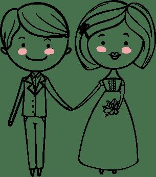 Female Wedding Couple