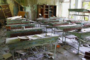 Pripyat, Chernobyl Abandoned School