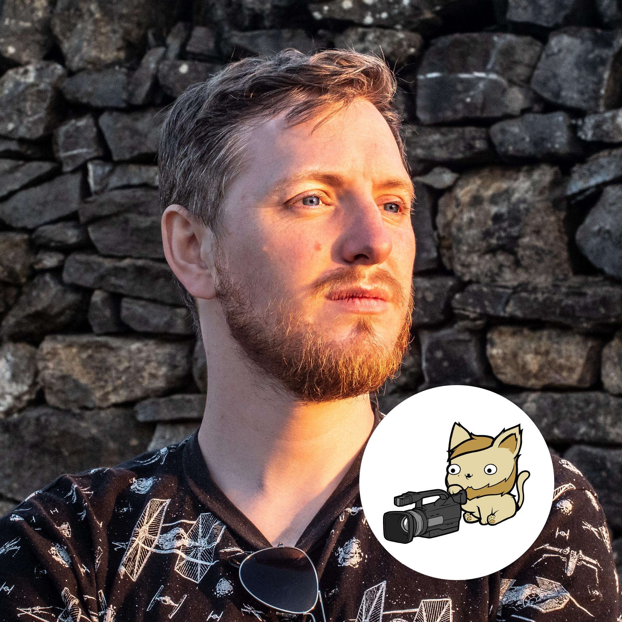 CJ Headshot With Kitten 2019